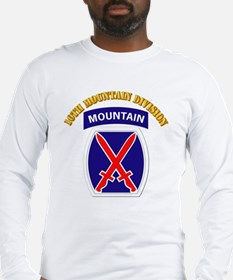 SSI - 10th Mountain Division with Text Long Sleeve