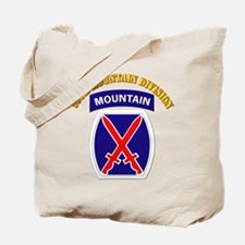 SSI - 10th Mountain Division with Text Tote Bag