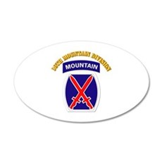 SSI - 10th Mountain Division with Text 20x12 Oval
