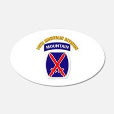 SSI - 10th Mountain Division with Text Wall Decal