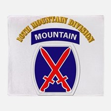 SSI - 10th Mountain Division with Text Throw Blank