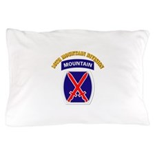 SSI - 10th Mountain Division with Text Pillow Case