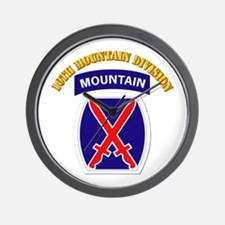 SSI - 10th Mountain Division with Text Wall Clock
