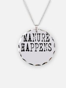 Manure Happens caps Necklace