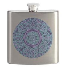 spiritual meditation mandala (aqua) Flask