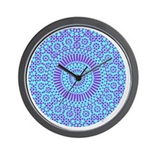spiritual meditation mandala (aqua) Wall Clock