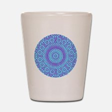 spiritual meditation mandala (aqua) Shot Glass