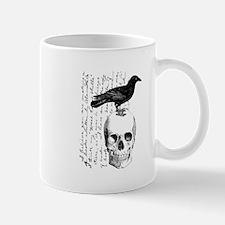 Vintage Raven & Skull Mug