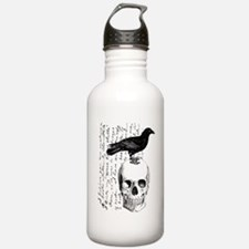 Vintage Raven & Skull Water Bottle