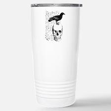 Vintage Raven & Skull Travel Mug