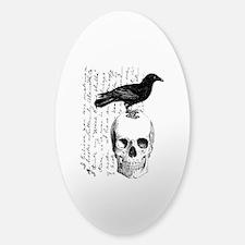 Vintage Raven & Skull Decal