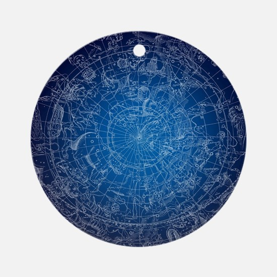 Celestial Wall Map Round Ornament