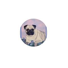 Pensive Pug Mini Button