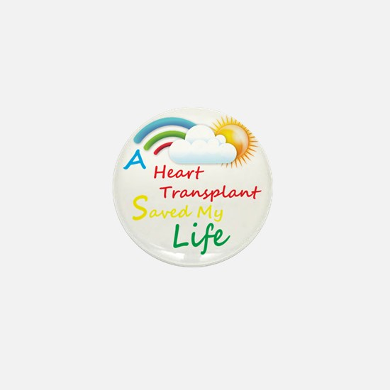 Heart Transplant Rainbow Cloud Mini Button