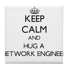 Keep Calm and Hug a Network Engineer Tile Coaster