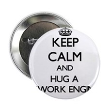 "Keep Calm and Hug a Network Engineer 2.25"" Button"