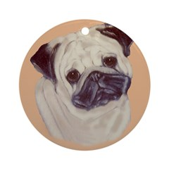 Typical Chinese Pug Ornament (Round)
