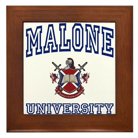 MALONE University Framed Tile