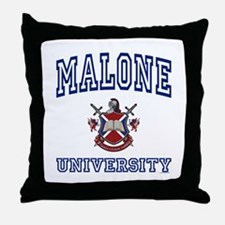 MALONE University Throw Pillow