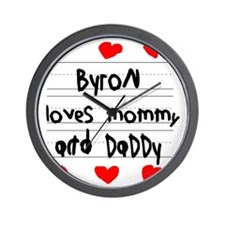 Byron Loves Mommy and Daddy Wall Clock