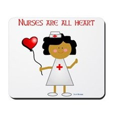 Nurses are all heart Mousepad
