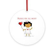 Nurses are all heart Ornament (Round)