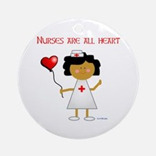 Nurses are all heart Ornament (Round)