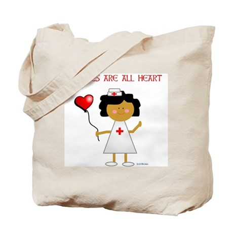 Nurses are all heart Tote Bag