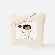 Nurses are all heart Tote Bag