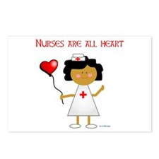 Nurses are all heart Postcards (Package of 8)
