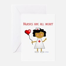 Nurses are all heart Greeting Cards (Pk of 10)