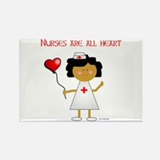 Nurses are all heart Rectangle Magnet (10 pack)