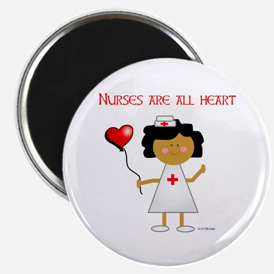 """Nurses are all heart 2.25"""" Magnet (100 pack)"""