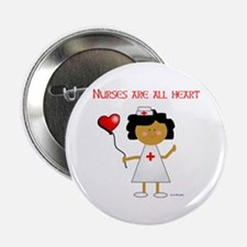 Nurses are all heart Button