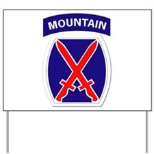 SSI - 10th Mountain Division Yard Sign