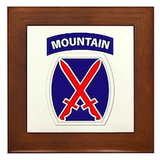 SSI - 10th Mountain Division Framed Tile
