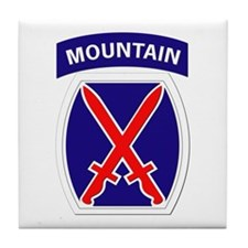 SSI - 10th Mountain Division Tile Coaster