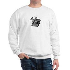 Vintage B&W Typewriter & Birds Sweatshirt