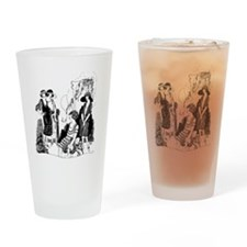 Vintage Ladies Drinking Glass