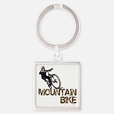 Mountain_Bike2 Square Keychain
