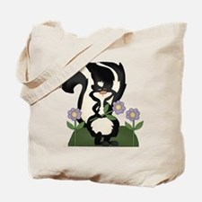 funny skunk with flowers Tote Bag