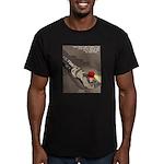 Spelunking Minister Men's Fitted T-Shirt (dark)