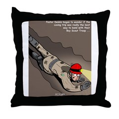 Spelunking Minister Throw Pillow