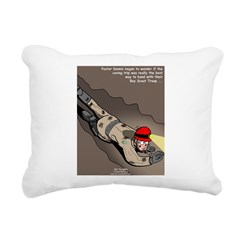 Spelunking Minister Rectangular Canvas Pillow