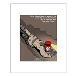Spelunking Minister Small Poster