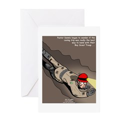 Spelunking Minister Greeting Card