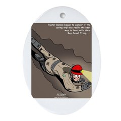 Spelunking Minister Ornament (Oval)