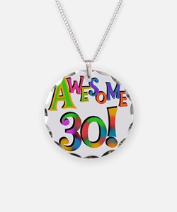 Awesome 30 Birthday Necklace