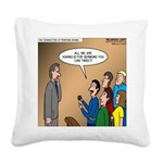Sermon Tweeting Square Canvas Pillow