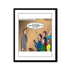 Sermon Tweeting Framed Panel Print